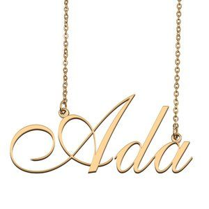 Custom Personalized Ada Name Necklace